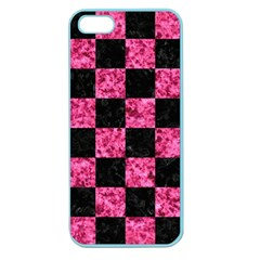 Square1 Black Marble & Pink Marble Apple Seamless Iphone 5 Case (color) by trendistuff