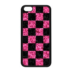 Square1 Black Marble & Pink Marble Apple Iphone 5c Seamless Case (black) by trendistuff