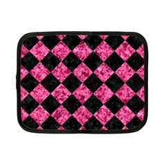 Square2 Black Marble & Pink Marble Netbook Case (small) by trendistuff