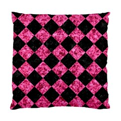 Square2 Black Marble & Pink Marble Standard Cushion Case (one Side) by trendistuff