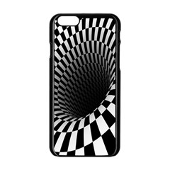 Optical Illusions Apple Iphone 6/6s Black Enamel Case by AnjaniArt