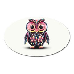 Owl Colorful Oval Magnet by AnjaniArt