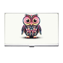 Owl Colorful Business Card Holders by AnjaniArt