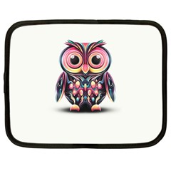 Owl Colorful Netbook Case (large) by AnjaniArt