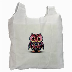 Owl Colorful Recycle Bag (one Side) by AnjaniArt