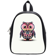 Owl Colorful School Bags (small)  by AnjaniArt