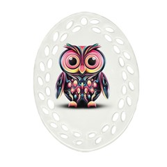 Owl Colorful Ornament (oval Filigree)