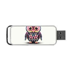 Owl Colorful Portable Usb Flash (one Side) by AnjaniArt