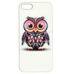 Owl Colorful Apple Iphone 5 Hardshell Case With Stand by AnjaniArt