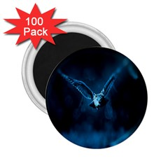 Night Owl Wide 2 25  Magnets (100 Pack)  by AnjaniArt