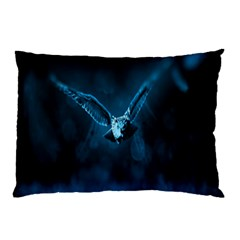 Night Owl Wide Pillow Case (two Sides) by AnjaniArt