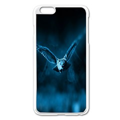 Night Owl Wide Apple Iphone 6 Plus/6s Plus Enamel White Case by AnjaniArt