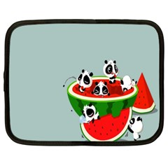 Panda Watermelon Netbook Case (xl)