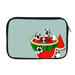 Panda Watermelon Apple Macbook Pro 17  Zipper Case