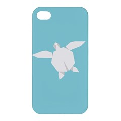 Pet Turtle Paper Origami Apple Iphone 4/4s Premium Hardshell Case by AnjaniArt