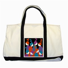 People Two Tone Tote Bag