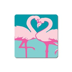 Pink Flamengo Square Magnet