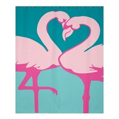 Pink Flamengo Shower Curtain 60  X 72  (medium)
