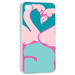 Pink Flamengo Apple Iphone 4/4s Seamless Case (white)