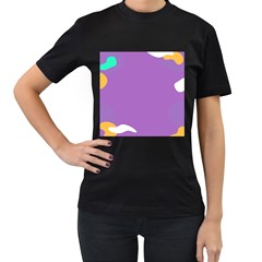 Purple Women s T Shirt (black) by AnjaniArt