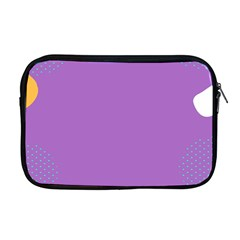 Purple Apple Macbook Pro 17  Zipper Case