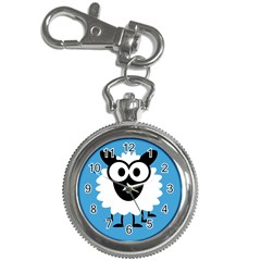 Sheep Animals Bleu Key Chain Watches by AnjaniArt