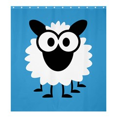Sheep Animals Bleu Shower Curtain 66  X 72  (large)  by AnjaniArt