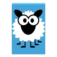 Sheep Animals Bleu Shower Curtain 48  X 72  (small)  by AnjaniArt