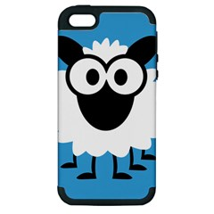 Sheep Animals Bleu Apple Iphone 5 Hardshell Case (pc+silicone)