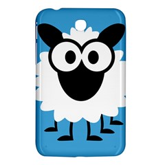 Sheep Animals Bleu Samsung Galaxy Tab 3 (7 ) P3200 Hardshell Case