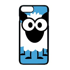 Sheep Animals Bleu Apple Iphone 7 Plus Seamless Case (black) by AnjaniArt