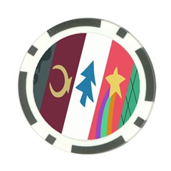 Star Color Poker Chip Card Guards by AnjaniArt