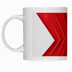 Rank Red White White Mugs by AnjaniArt