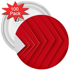 Rank Red White 3  Buttons (100 Pack)