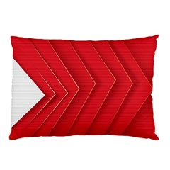 Rank Red White Pillow Case (two Sides)