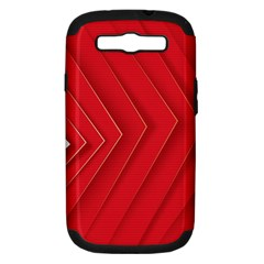 Rank Red White Samsung Galaxy S Iii Hardshell Case (pc+silicone)