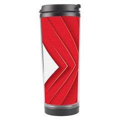 Rank Red White Travel Tumbler by AnjaniArt