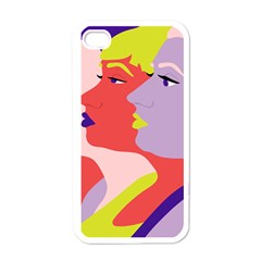 Three Beautiful Face Apple Iphone 4 Case (white)