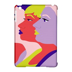 Three Beautiful Face Apple Ipad Mini Hardshell Case (compatible With Smart Cover) by AnjaniArt