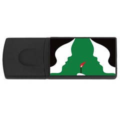 Two Face Usb Flash Drive Rectangular (4 Gb)  by AnjaniArt