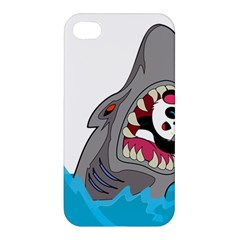 Panda Sharke Blue Sea Apple Iphone 4/4s Premium Hardshell Case by AnjaniArt