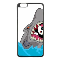 Panda Sharke Blue Sea Apple Iphone 6 Plus/6s Plus Black Enamel Case