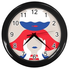 Woman Wall Clocks (black)