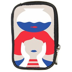 Woman Compact Camera Cases by AnjaniArt