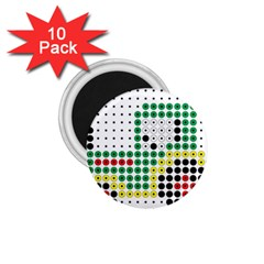 Tractor Perler Bead 1 75  Magnets (10 Pack)  by AnjaniArt