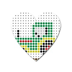 Tractor Perler Bead Heart Magnet by AnjaniArt