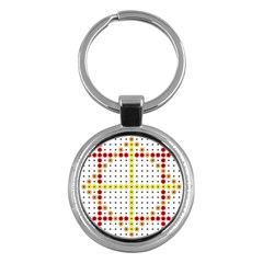 Vertical Horizontal Key Chains (round)