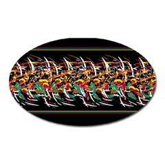Colorful Barbwire  Oval Magnet by Valentinaart