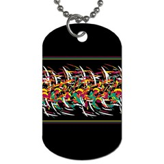 Colorful Barbwire  Dog Tag (one Side) by Valentinaart