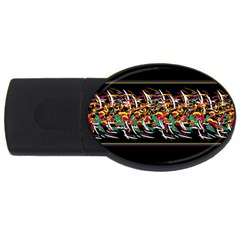 Colorful Barbwire  Usb Flash Drive Oval (2 Gb)  by Valentinaart